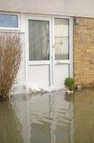 Översvämmad ytterdörr, Basingstoke Arkivbild