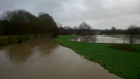 översvämmade fält Royaltyfri Fotografi