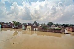 Översvämmade Indien Arkivbild