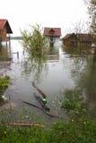 översvämmade utgångspunkter arkivbild