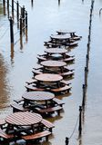 översvämmar york Arkivfoto
