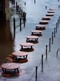 översvämmar york Fotografering för Bildbyråer