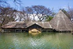 Översvämmat hus, Kenya Royaltyfria Foton