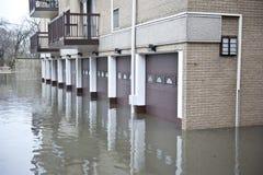 översvämmat område arkivfoto