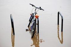 översvämmat vatten Royaltyfria Foton