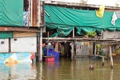översvämningshus arkivbild
