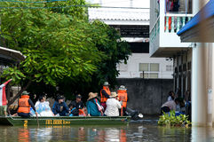 översvämningsnakhinratchasima thailand Royaltyfri Fotografi
