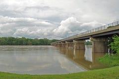 översvämningspotomac flod Fotografering för Bildbyråer