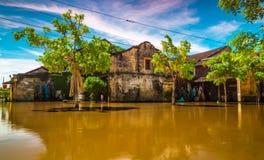 Översvämningstid Arkivfoto