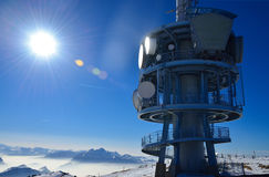 Överträffa av den Rigi alpen i Schweitz, Europa Royaltyfria Foton