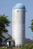överträffad blå silo Arkivfoton
