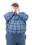 Överviktig sjukligt fet landslantis Fotografering för Bildbyråer