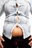 överviktig skjorta för huvuddelkvinnlig tight Royaltyfri Fotografi
