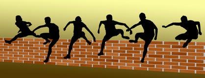 Övervinn ett hinder - Workinggrupp royaltyfri illustrationer