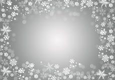 Övervintra bakgrund med snöflingor för dina egna skapelser royaltyfri illustrationer