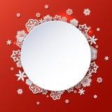 Övervintra bakgrund med snöflingor med stället för text Royaltyfria Bilder