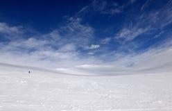 Övervintra berg i Ryssland, Khibiny, Kola Peninsula Arkivfoton