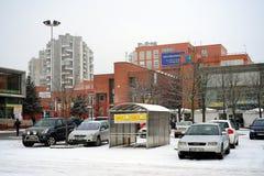 Övervintra i huvudstad av det Litauen Vilnius stadsSeskine området Royaltyfri Fotografi