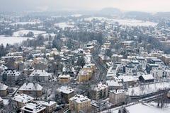 Vinter i Salzburg Fotografering för Bildbyråer