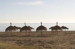 Övervintra på stränderna av Malaga costa del solenoid Arkivfoto