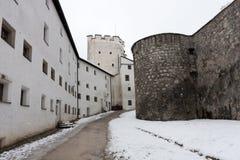 Övervintra i Salzburg, gammalt slott Arkivbilder