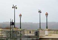 Övervintra sikten av boulevarden av Pyrenees, Pau Royaltyfri Bild