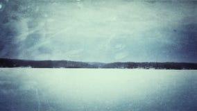 övervintrar trees för snow för sky för lies för frost för mörk dag för bluefilialer Royaltyfri Foto