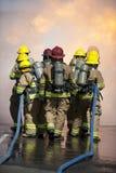 övningsbrandutbildning Fotografering för Bildbyråer