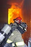 övningsbrandutbildning Arkivfoton