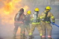 övningsbrandutbildning Royaltyfri Fotografi