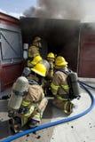 övningsbrandutbildning Royaltyfri Foto