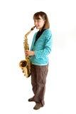 övningssaxofon Royaltyfri Fotografi