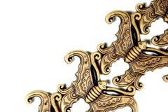 Övre avsnitt för slut av dekorativa dekorativa fjärilar Arkivbild