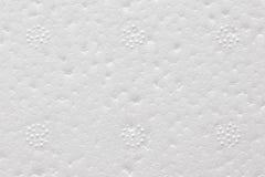 Övre bild för högkvalitativt slut av vitt polystyrenskum Arkivbilder
