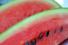 Övre bild för rött vattenmelonslut Royaltyfri Foto