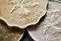 Övre bild för slut av den Hong Kong dollaren Arkivfoto