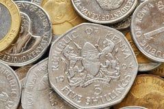 Övre bild för slut av den kenyanska shillingen Arkivfoton