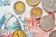 Övre bild för slut av den kenyanska shillingen Arkivfoto