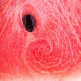 Övre bild för slut av den röda vattenmelon Fotografering för Bildbyråer