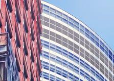 Övre bild för slut av moderna arkitekturdetaljer Royaltyfria Bilder