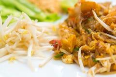 Övre bild för slut av thailändska det thai matblocket Arkivbilder