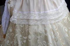 övre detalj för 19 århundrade klänningslut Arkivbilder