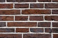 Övre detalj för mörkt slut för tegelstenvägg Royaltyfri Foto