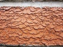 Övre detalj för orange slut för tegelstenvägg Arkivfoto