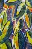 Övre detalj för original- slut för olje- målning - sidor royaltyfri foto