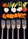övre grönsaker Arkivbild