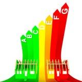 Övre grupp rated energibegrepp av det nya huset stock illustrationer