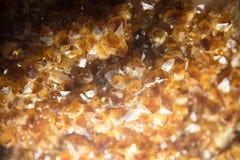Övre gul Topaz Crystal för slut rå sten Royaltyfri Foto