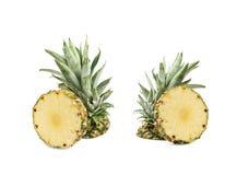 Övre - halva av en ananasfrukt Fotografering för Bildbyråer