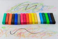 Övre isolerade färgblyertspennor för slut Royaltyfri Bild